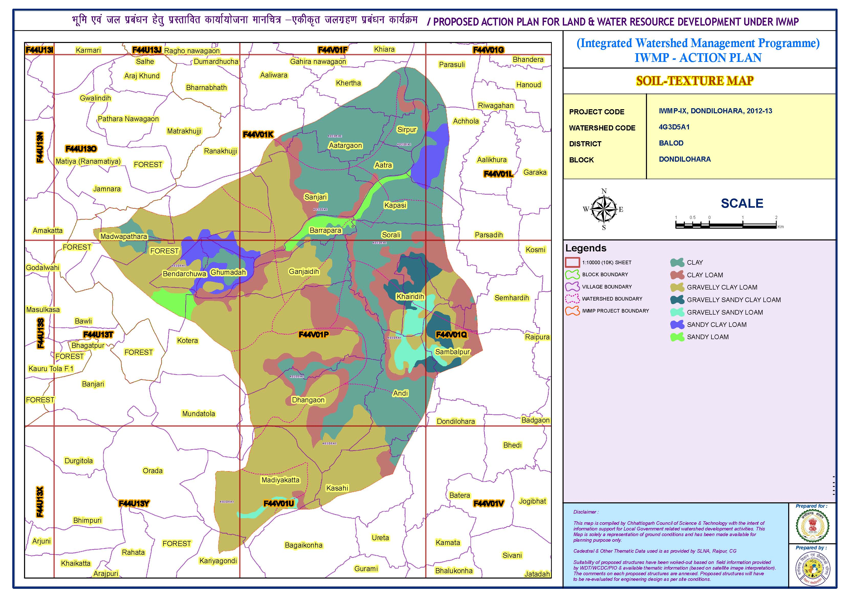 Integrated watershed management  (Soil-texture map)